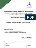 Ccv Ufc 2012 Seduc Ce Professor Artes Prova