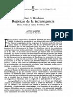 Albert  O. Hirschman - Retóricas de la Intransigencia