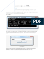 Autentificacion de Usuarios en Java Con Mysql