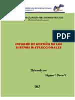Informe de Gestión de Diseños Instruccionales