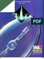 Venture Lighting Lamp Catalog 1991 - 1992