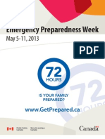 2013 Emergency Preparedness Week Handout From Canadian Government