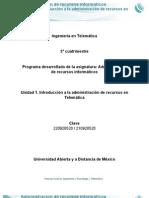 Unidad 1 Administracion Recursos Informaticos