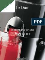 Magimix Le Duo Instructions