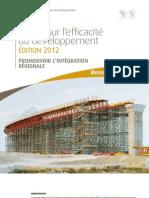 Revue sur l'efficacité du développement Édition 2012 - Promouvoir l'intégration régionale