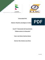 Caso n° 7 Alumna Diaz Jiménez Laura Elena Materia Filosofía y Sociología en la Educación