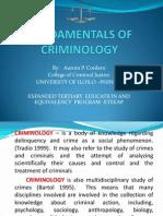 Fundamentals of Criminology Revised 2011-2012