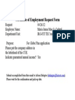 CoE Request Form