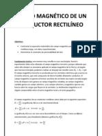 CAMPO MAGNÉTICO DE UN CONDUCTOR RECTILÍNEO