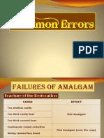 Resto Sem Report Common Errors