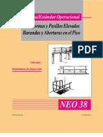 Normas de Seguridad Industrial-NEO-38 Plataforma y Pasillos Elevados, Barandas y Aberturas