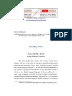 Stahler--Sholk, Richard 2008 'Unmasking Mexico' a Contra Corriente, Vol. 5, No. 2 (Winter, Pp. 356--361)