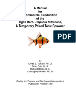a manual for commercial production of the tiger barb, capoeta tetrazona