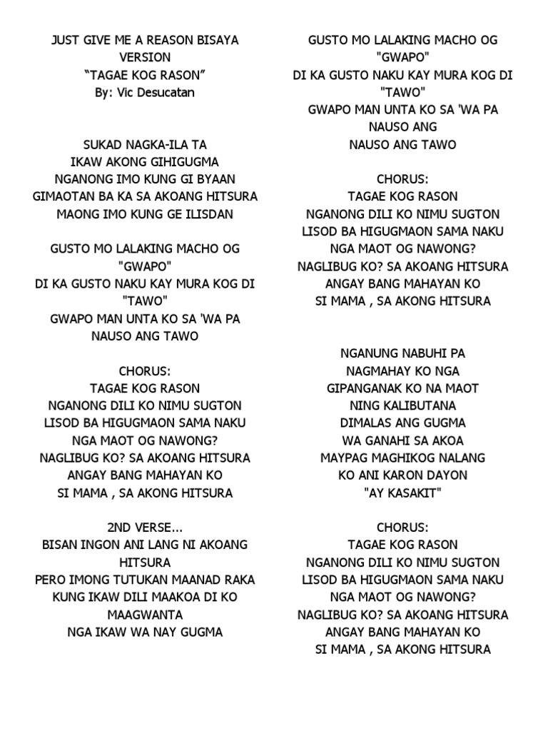 bisaya songs lyrics | Bisaya Quotes and JOkes