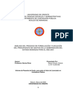 TESIS-ANÁLISIS DEL PROCESO DE FORMULACIÓN Y EJECUCIÓN DEL PRESUPUESTO DE GASTOS EN LA GOBERNACIÓN DEL ESTADO MONAGAS PARA EL AÑO 2001