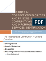 Libraries in Corrections facilities and prisons