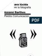 Cámara Lúcida RolandBarthes
