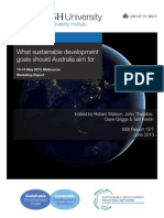 What Sustainable Development Goals Should Australia Aim For?
