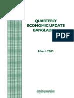 Bangladesh Quarterly Economic Update - March 2005