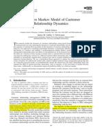 A Hidden Markov Model of Customer Relationship Dynamics