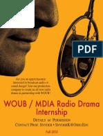 WOUB / MDIA Radio Drama Poster Fall 2013
