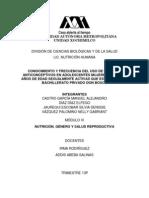 CONOCIMIENTO Y FRECUENCIA DE MÉTODOS ANTICONCEPTIVOS FINAL