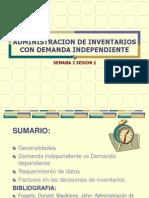 Administracion de Inventarios Con Demanda Independiente