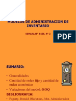 Modelos de Administracion de Inventario