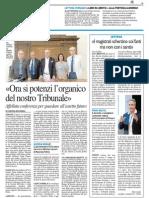 """""""Ora si potenzi l'organico del nostro Tribunale"""" - Il Resto del Carlino del 7 luglio 2013"""
