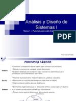 Análisis y Diseño de Sistemas I - Tema1