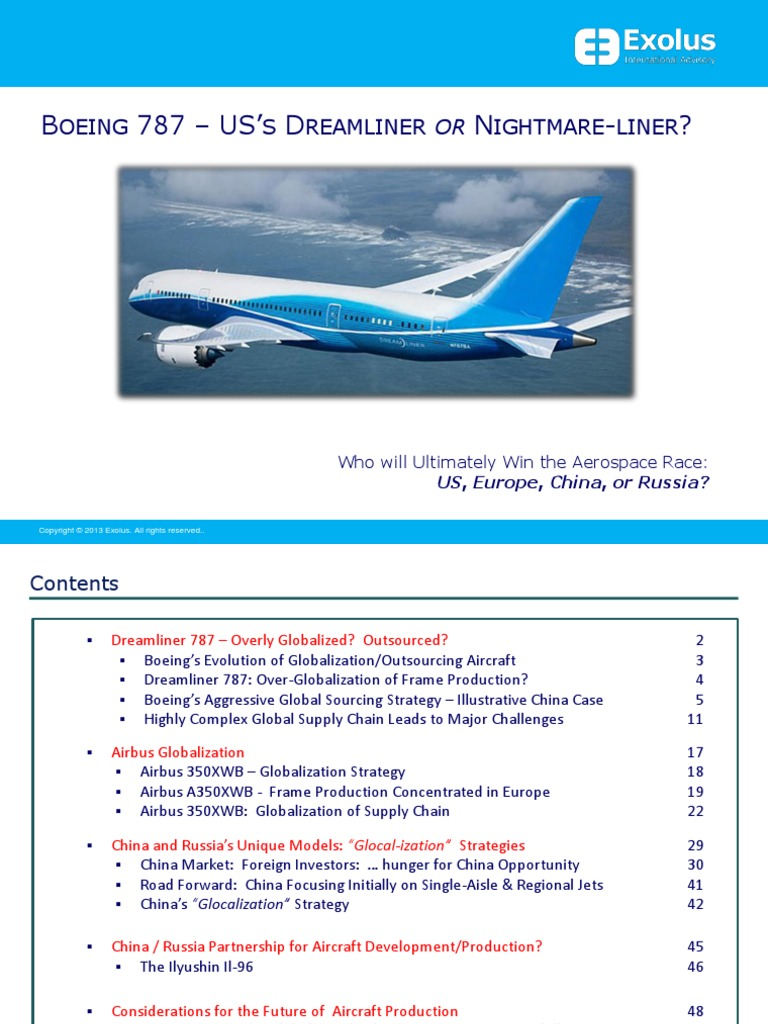 boeing 787 outsourcing case study