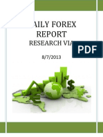 Forex Report Today 08 July 2013
