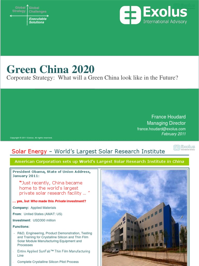 Corporate Strategy: Red China, Greenest of All – Fact or Fiction