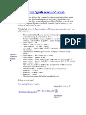 Grub Ububtu   Microcomputers   Unix