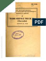 Tm 9-765 BOMB SERVICE TRUCK M6