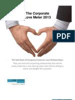Corporate Love Meter 2013