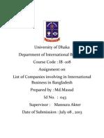 List of multinational corporation