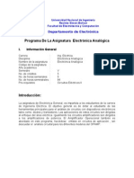 Programa Elec Analoggeneral