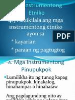 Mga Instrumentong Etniko