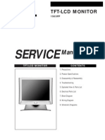 Dell TFT-LCD Color Monitor 1503FP Service Manual