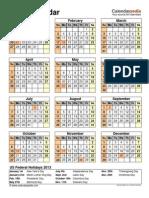 2013 Calendar Portrait 1 Page Letter