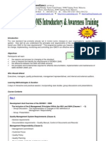 1.ISO9001 2008 QMS Introductory & Awareness Training Course Outline