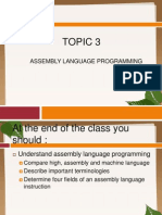 Chapter 3 ASSEMBLY LANGUAGE PROGRAMMING