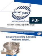 Solve Your Screening & Grading Problems from Leaders in Sieving Technology, Galaxy Sivtek