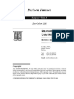 Business Finance Revision Kit as at 25 April 2006