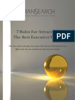 7 Rules for Attracting The Best Executive Talent
