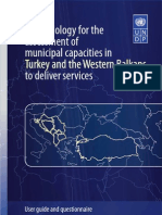 Methodology for the assessment of municipal capacities in Turkey and the Western Balkans
