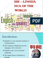 English Lingua Franca of the World