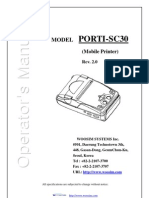 woosim Operator Manual Porti SC30 korea