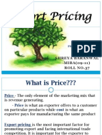 Export Pricing Decision